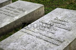 Gräber am Mausoleum am Büchenberg