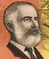 Lawrence Hargrave (1850-1915) on 20 Dollars 1974 banknote from Australia. Engineer