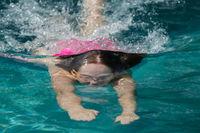 Girl Diving Waterline