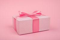 Valentines Day pink gift box