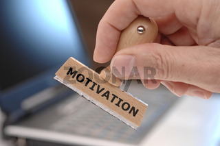 Stempel mit Aufschrift MOTIVATION