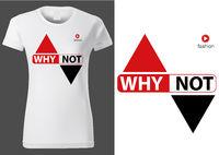 Frauen weißen Hemde mit Aufschrift warum nicht