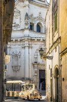 At the Church of San Matteo on Via dei Perroni Lecce Apulia Italy