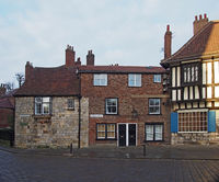 old buildings surrounding minster square and yard in york.