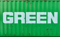 Green Text als Nachhaltigkeit und Umweltschutz Konzept