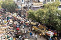 Busy street in Old Delhi, India