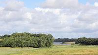 Landschaft am Ornumer Noor auf der Halbinsel Schwansen in Norddeutschland