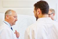 Ärzte bei Präsentation im Meeting