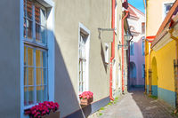 Old Town street  Tallinn  Estonia