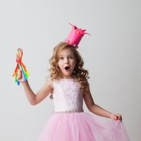 Candy princess girl in crown
