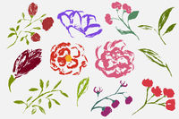 A set of spring elements drawn by hand.