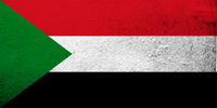 the Republic of the Sudan National flag. Grunge background