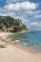 Hafenburg in Lloret de Mar,Costa Brava,Katalonien,Spanien