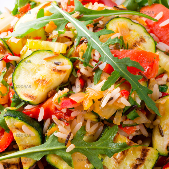 vegetables vegetarian with wild rice