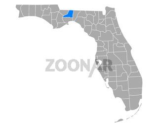 Karte von Leon in Florida - Map of Leon in Florida