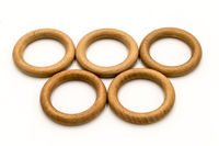 olympic ring in wooden circle