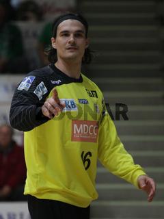 dänischer Handballtorwart Jannick Green SC Magdeburg DHB-Pokal 14/15 2.Rd. bei Eintracht Hildesheim