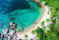Aerial view Sai Nuan beach