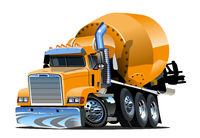 Cartoon Concrete Mixer Truck