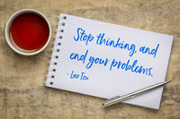 Stop thinking, and end your problems