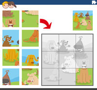 jigsaw puzzle game with dog characters