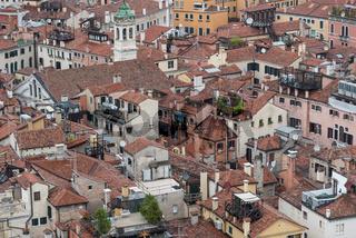 Panoramablick auf die Altstadt von Venedig - Italien