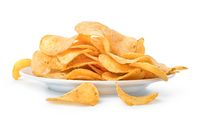 Plate with chips