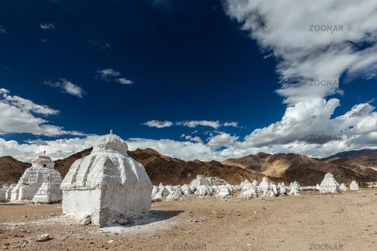 Buddhist chortens, Ladakh
