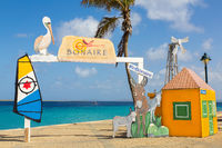 Welcome photo spot at sea in Bonaire