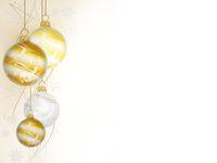 christmas ball on white background - 3d rendering