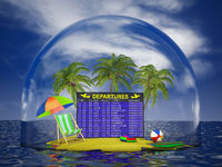 Airport board on the domed island