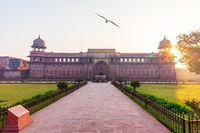 Jahangir Palace main view, Agra Fort, Uttar Pradesh, India