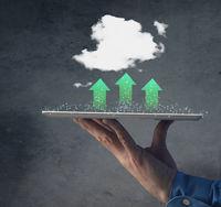Green cloud computing concept