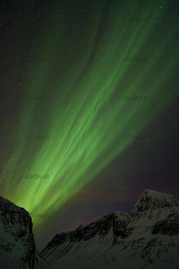 Nordlicht (Aurora borealis), Kebnekaisefjaell, Lappland