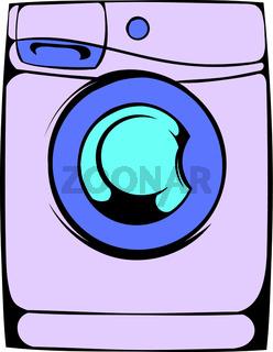 Washing machine icon cartoon