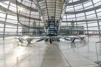 Berlin, Germany - 23 September 2020: Innenansicht der Reichstags Kuppel des deutschen Bundestages
