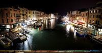 Venedig in der Nacht - Blick von der Rialtobrücke