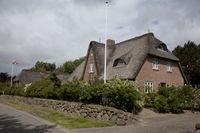 Archsum Reetgedeckte Häuser