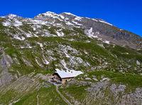 Geltenhütte des Schweizer Alpen-Clubs, Berner Oberland, Lauenen, Kanton Bern, Schweiz