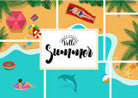 Hallo Sommer mit Sommerentspannung Hintergrund