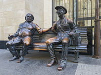 Bronze Skulptur in der Shavteli Strasse Tbilissi