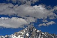 Gipfelpyramide der Aiguille Verte, Chamonix, Hochsavoyen, Frankreich
