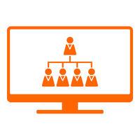 Hierarchie und Monitor - Hierarchy and screen