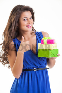 Young Smiling Woman With Gift