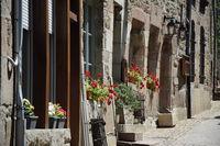 Fenster in Treguier, Bretagne