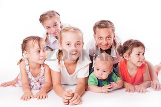 Kids on white