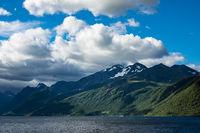 Blick auf den Storfjord in Norwegen