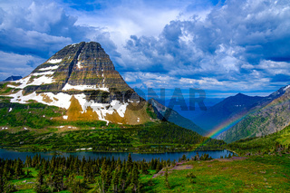 0000268 Rainbnow after the storm at Bear Hat Mountain  Glacier National Park Montana 2403