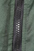 Close up of plastic zipper.