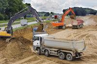 Autobahn Baustelle bei Augsburg
